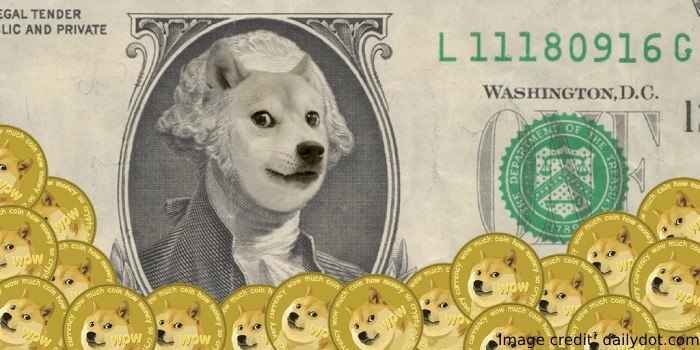 Money with dogecoin