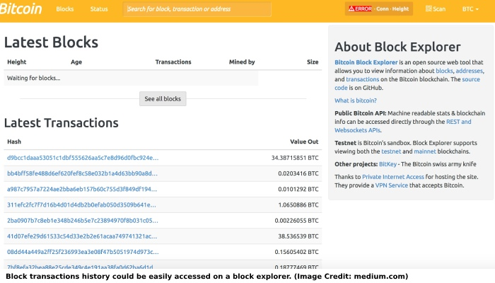 Transactions on Block Explorer